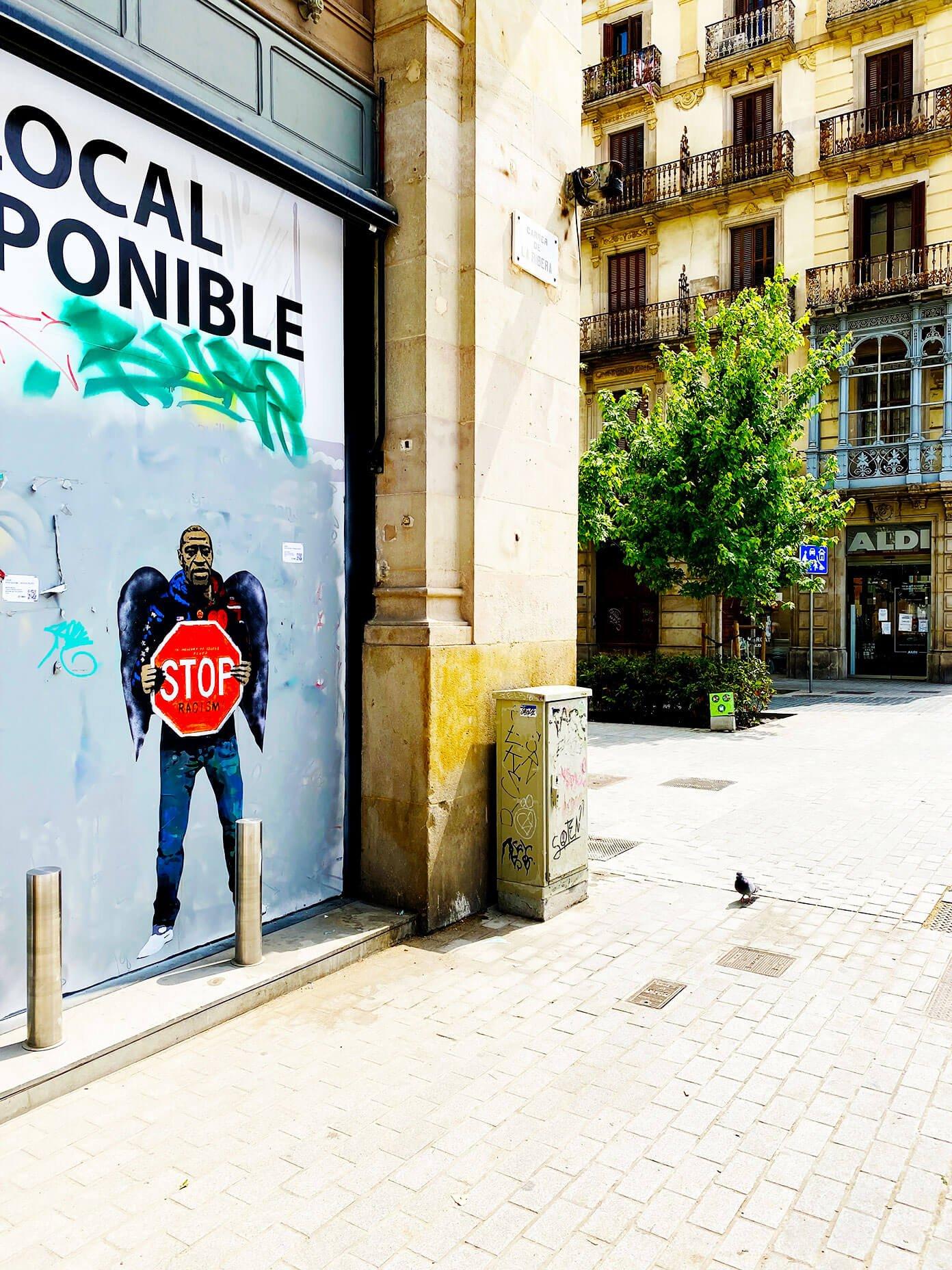 George Floyd Mural in El Born, Barcelona