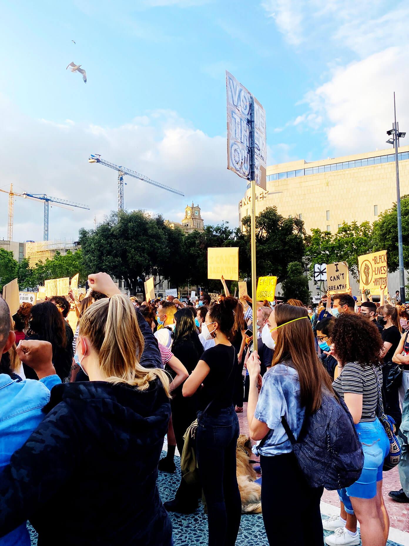 Vigília Black Lives Matter em Barcelona