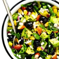 Blueberry Corn and Avocado Chopped Salad