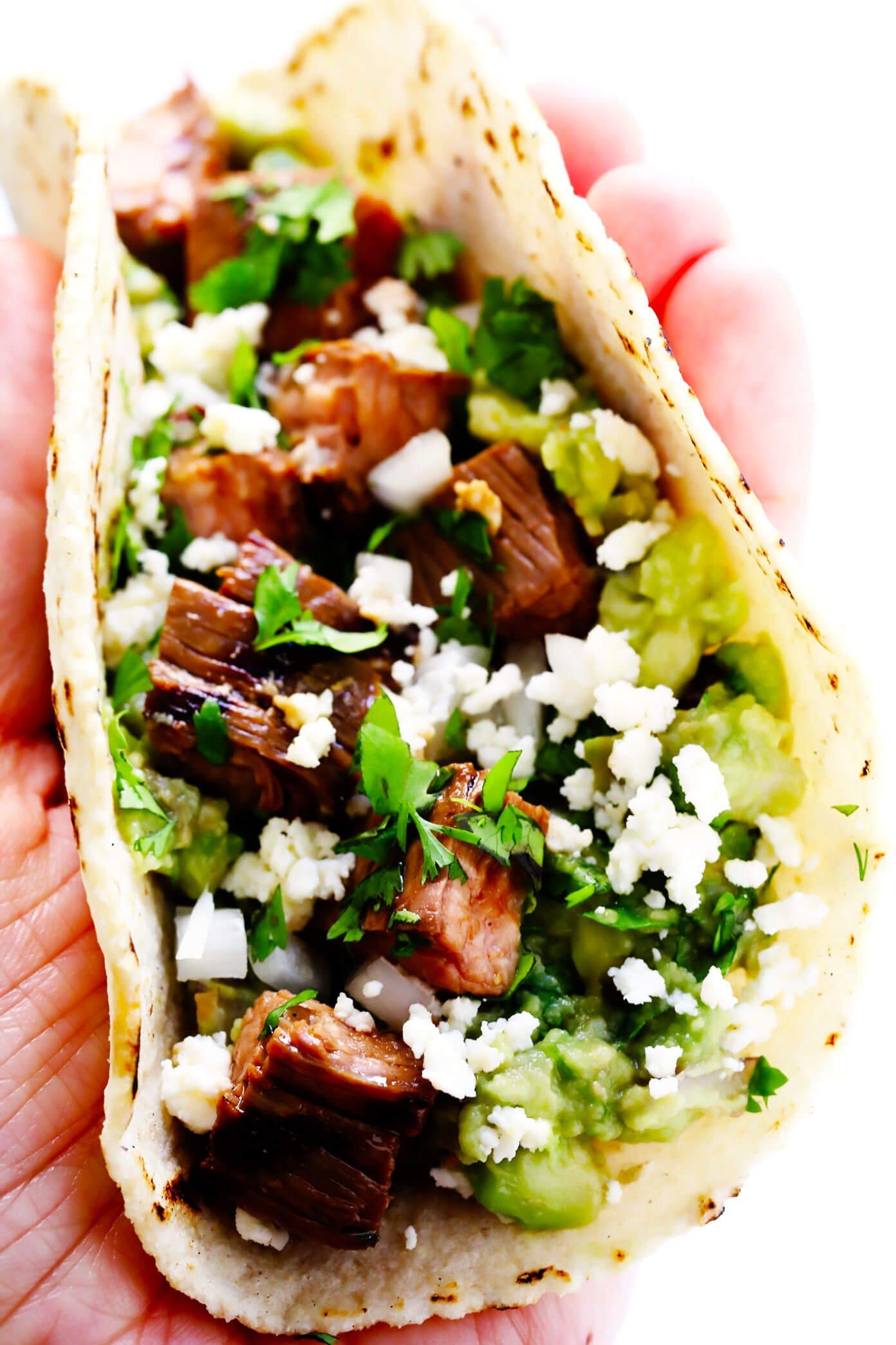 Carne Asada Taco Closeup