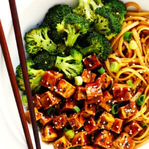 Five Spice Tofu with Sesame Noodles