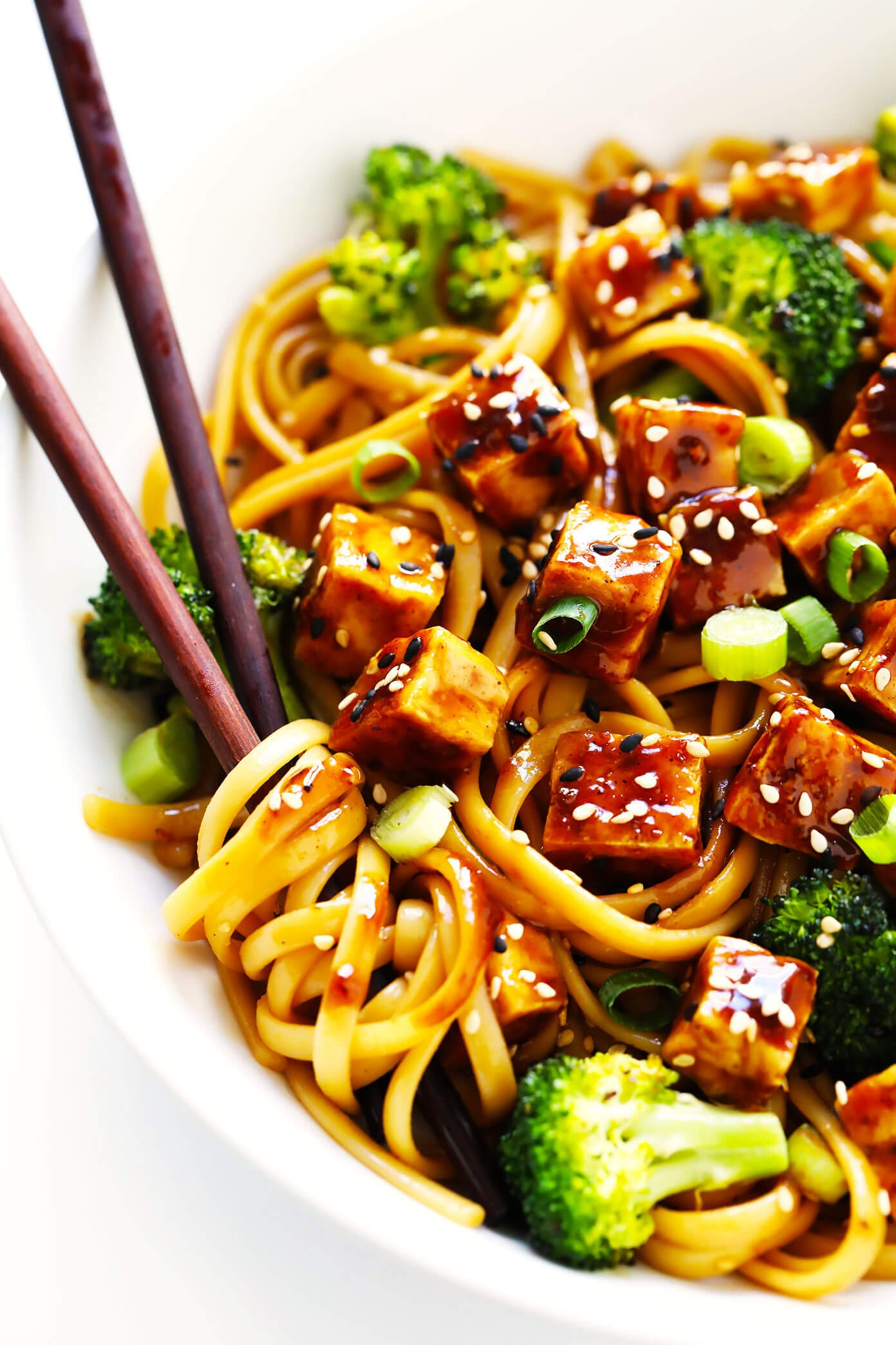 Five Spice Tofu Bowls with Sesame Noodles