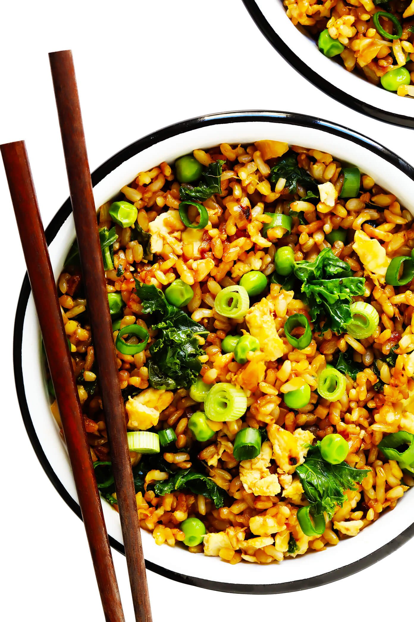 Rice Cooker Recipes Ginger Kale Fried Rice