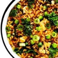 Ginger Kale Fried Rice Recipe