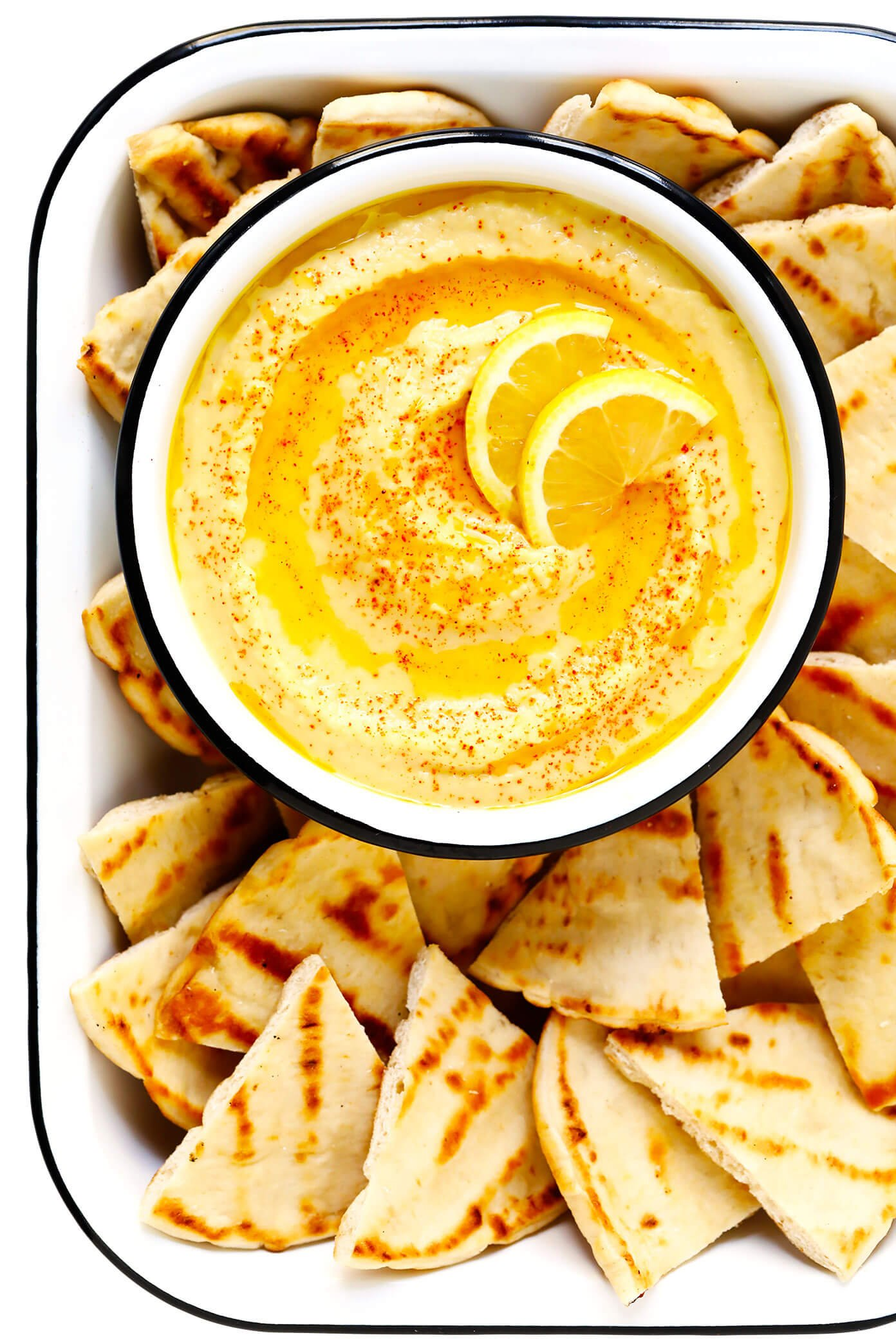 Greek Fava Dip with Pita Bread