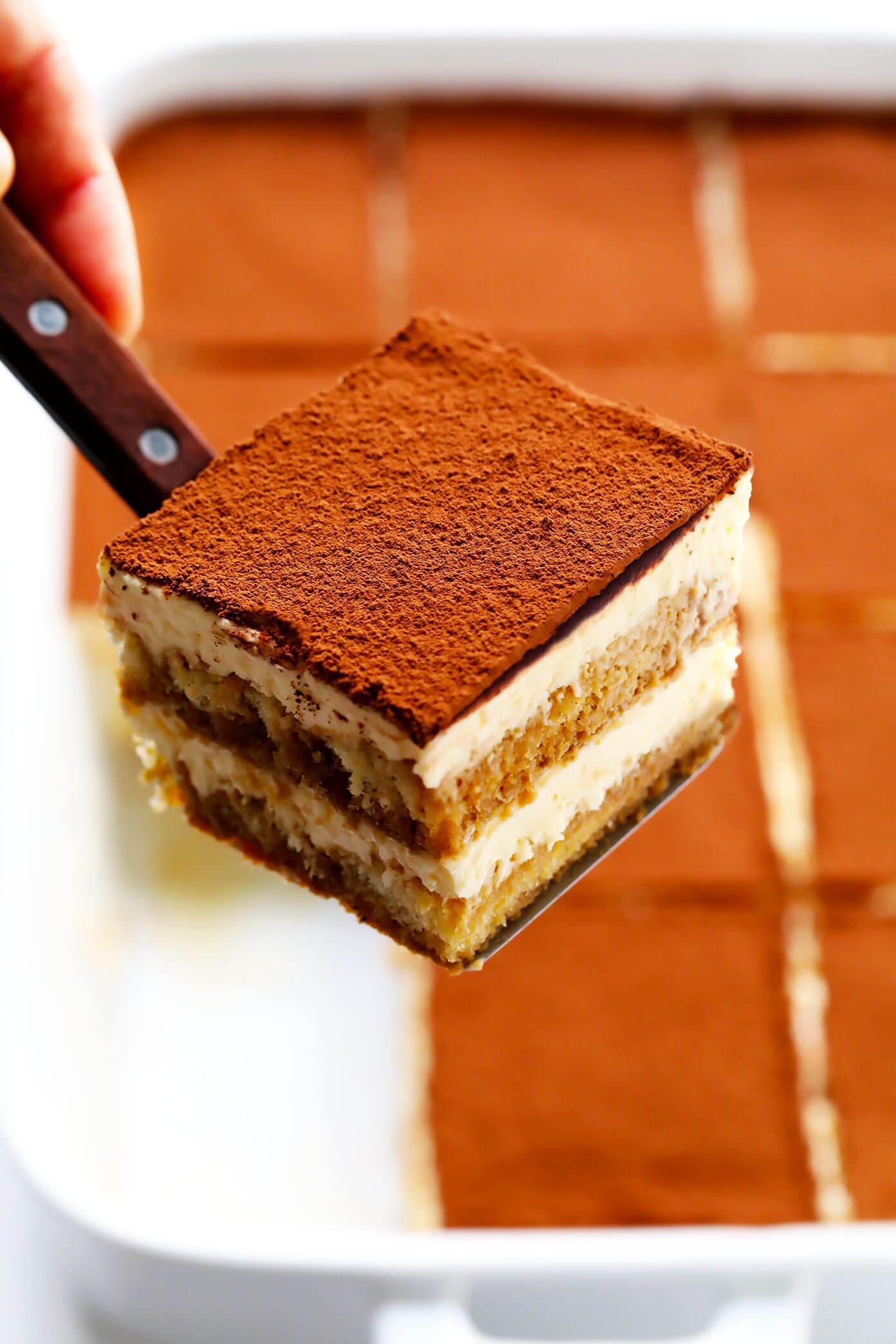 Slice of tiramisu