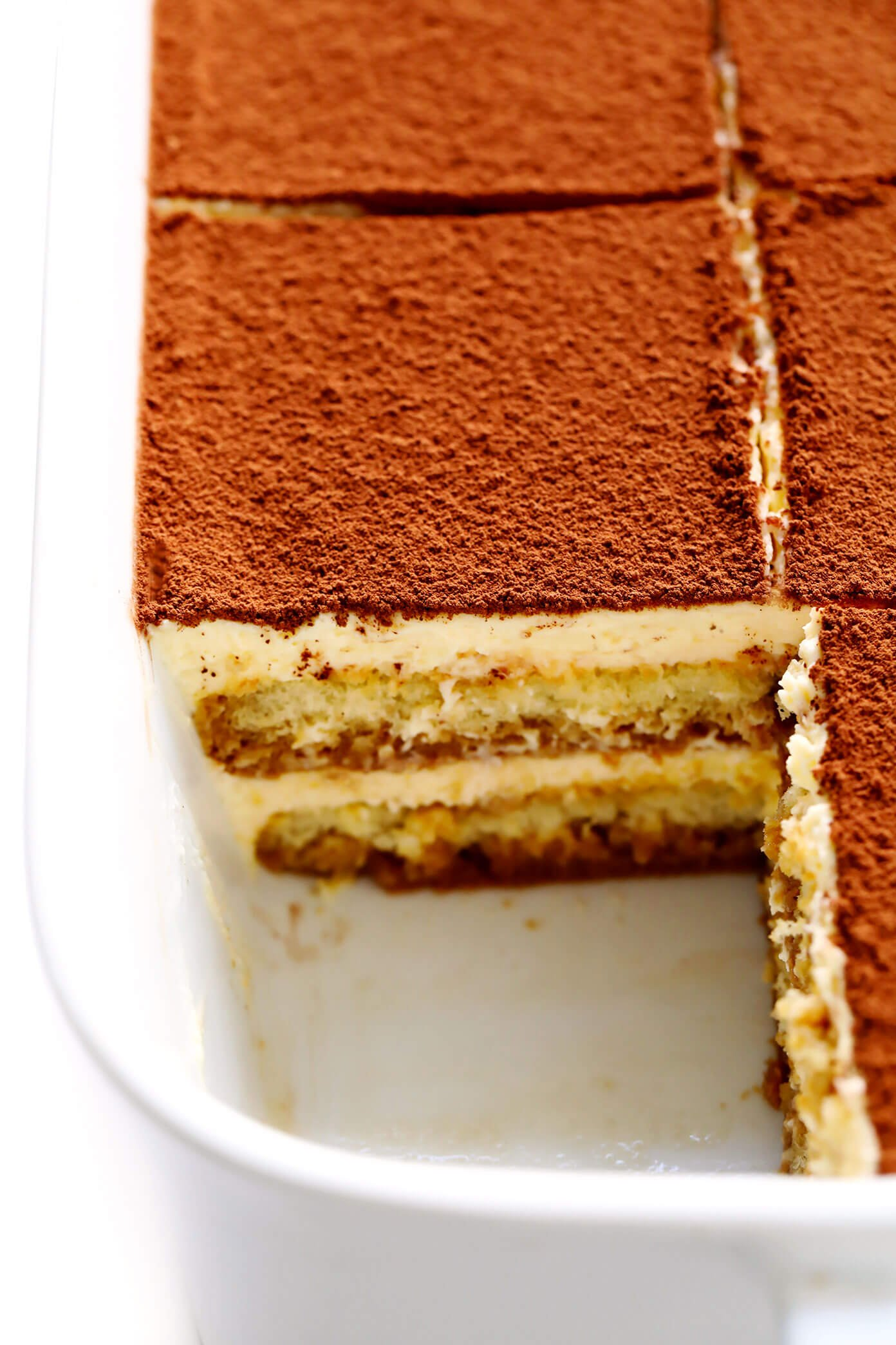 Tiramisu in the pan