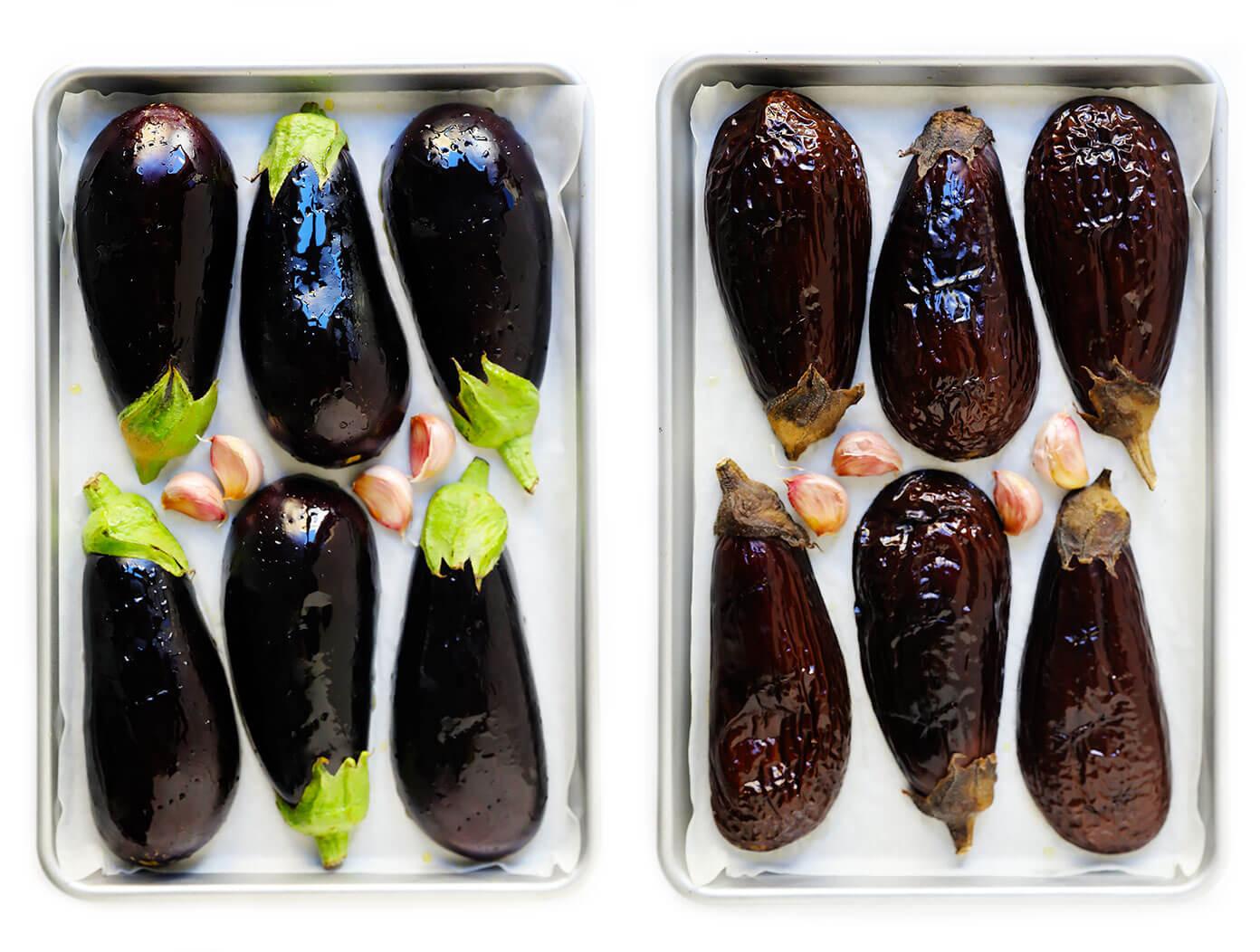 Roasted Eggplant and Garlic