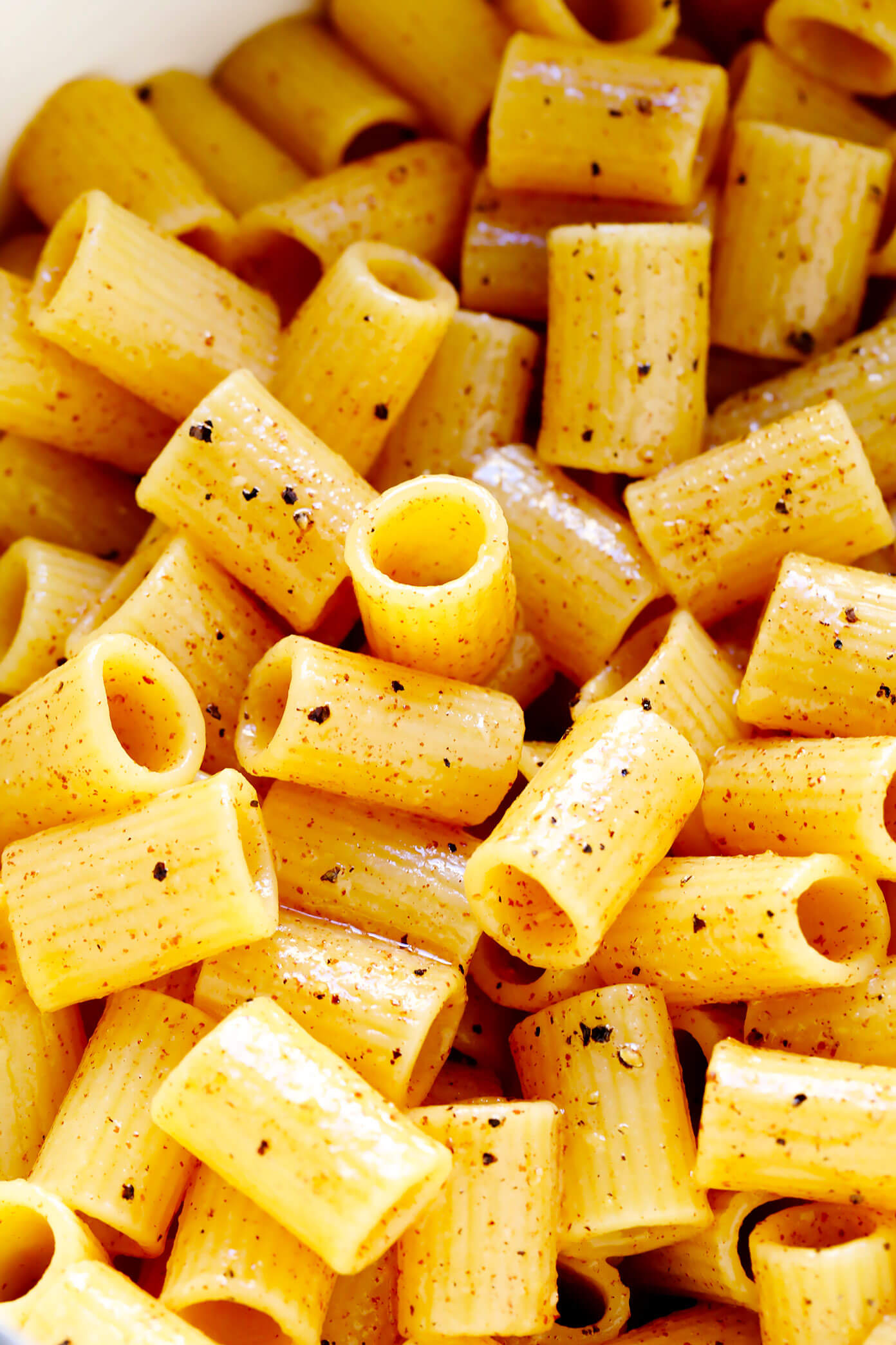 Lemon Pepper Pasta Closeup