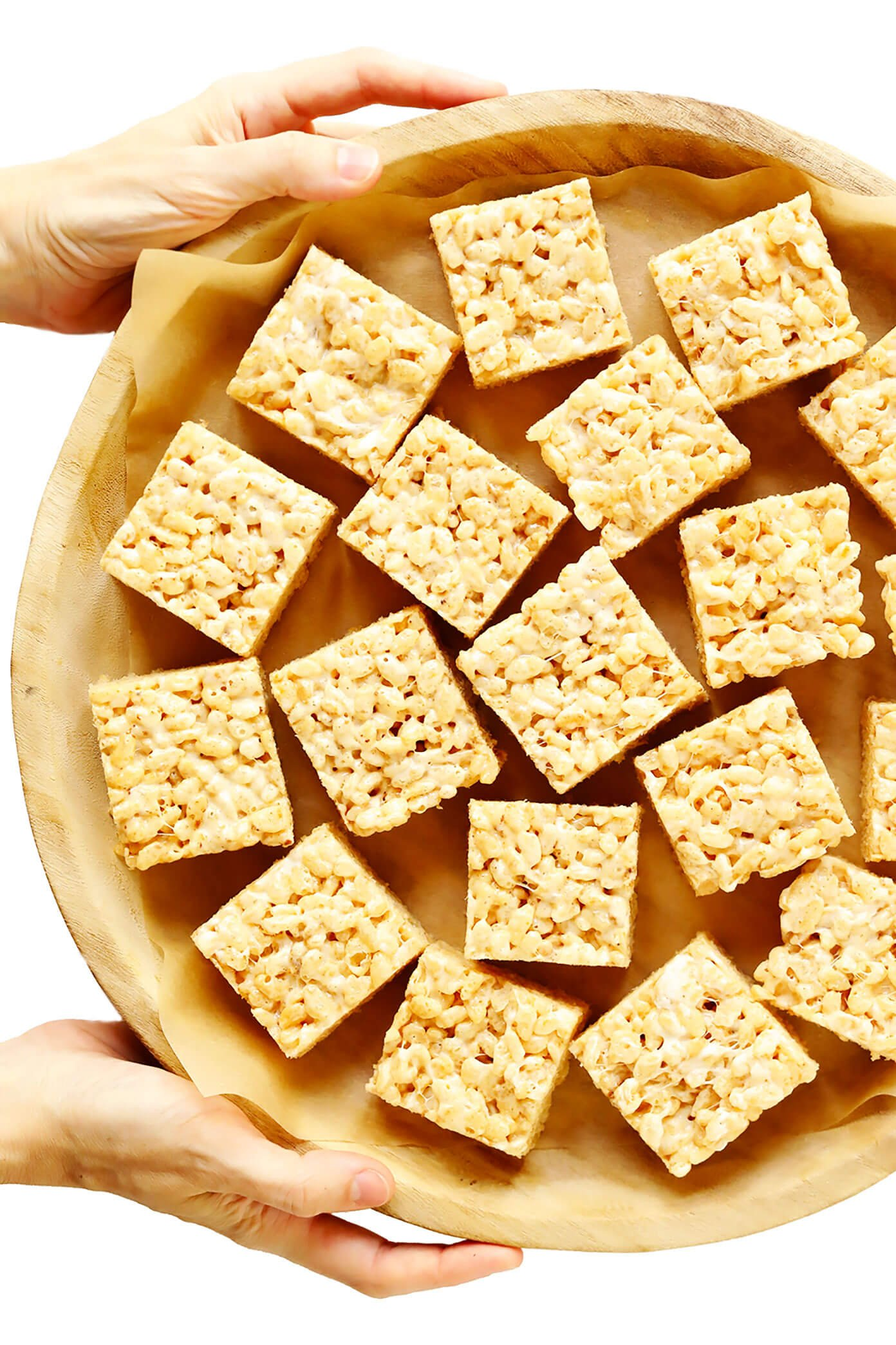 Tray of Rice Krispie Treat Squares