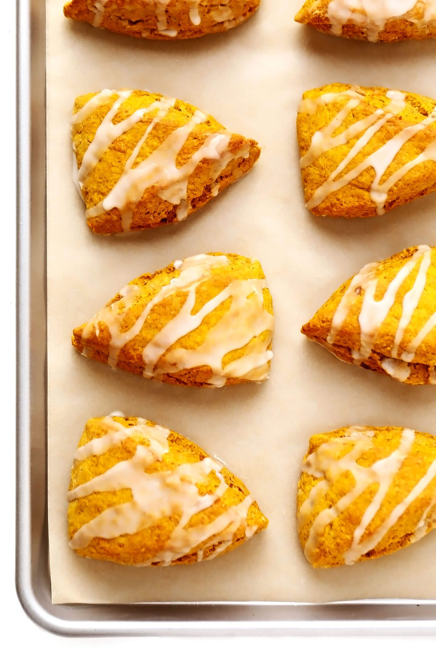 Pumpkin Scones on Baking Sheet