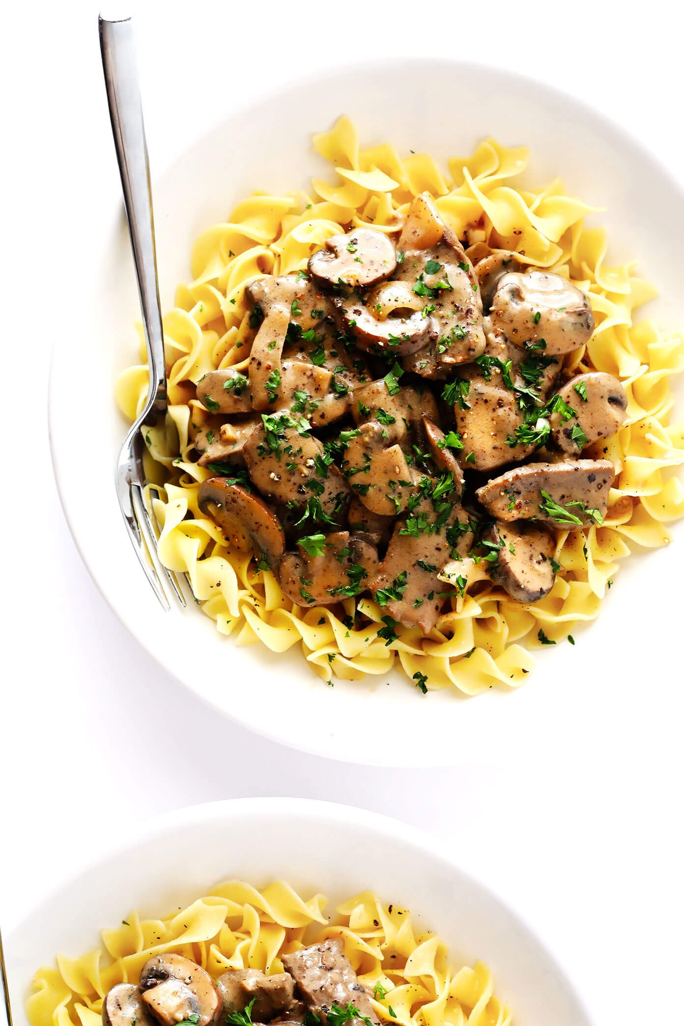 Beef Stroganoff in Serving Bowls