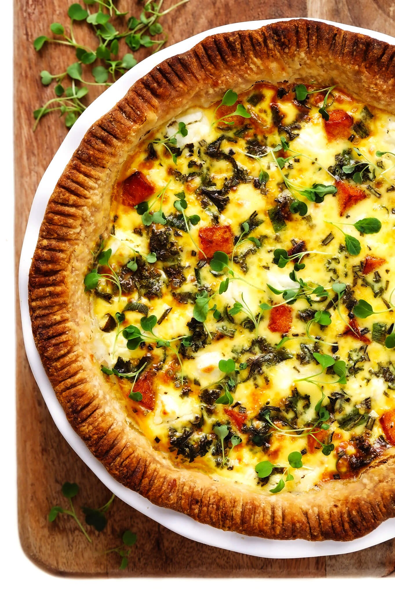 Butternut Squash Quiche Recipe Gimme Some Oven