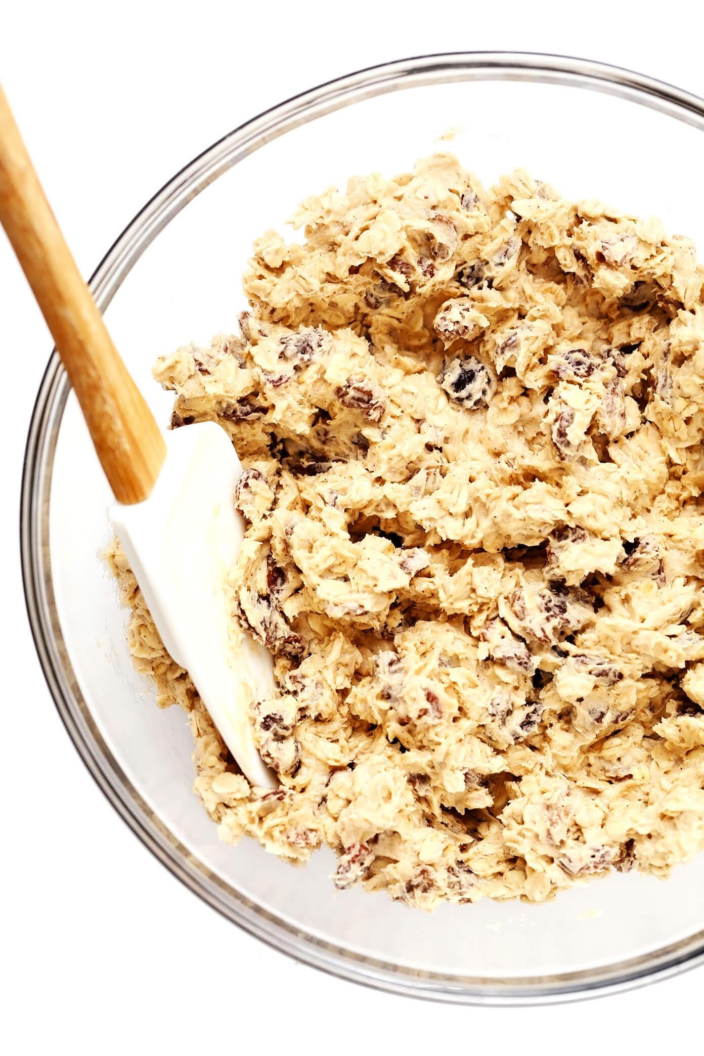 Oatmeal Cookie Dough with Raisins
