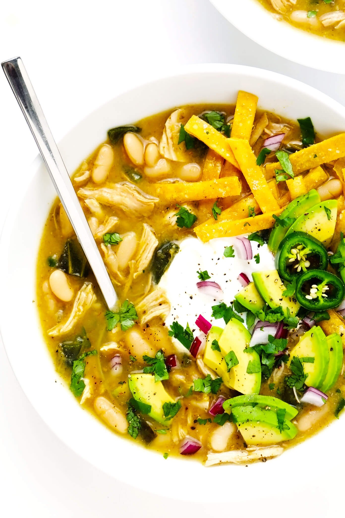 Receita Poblano White Chicken Chili