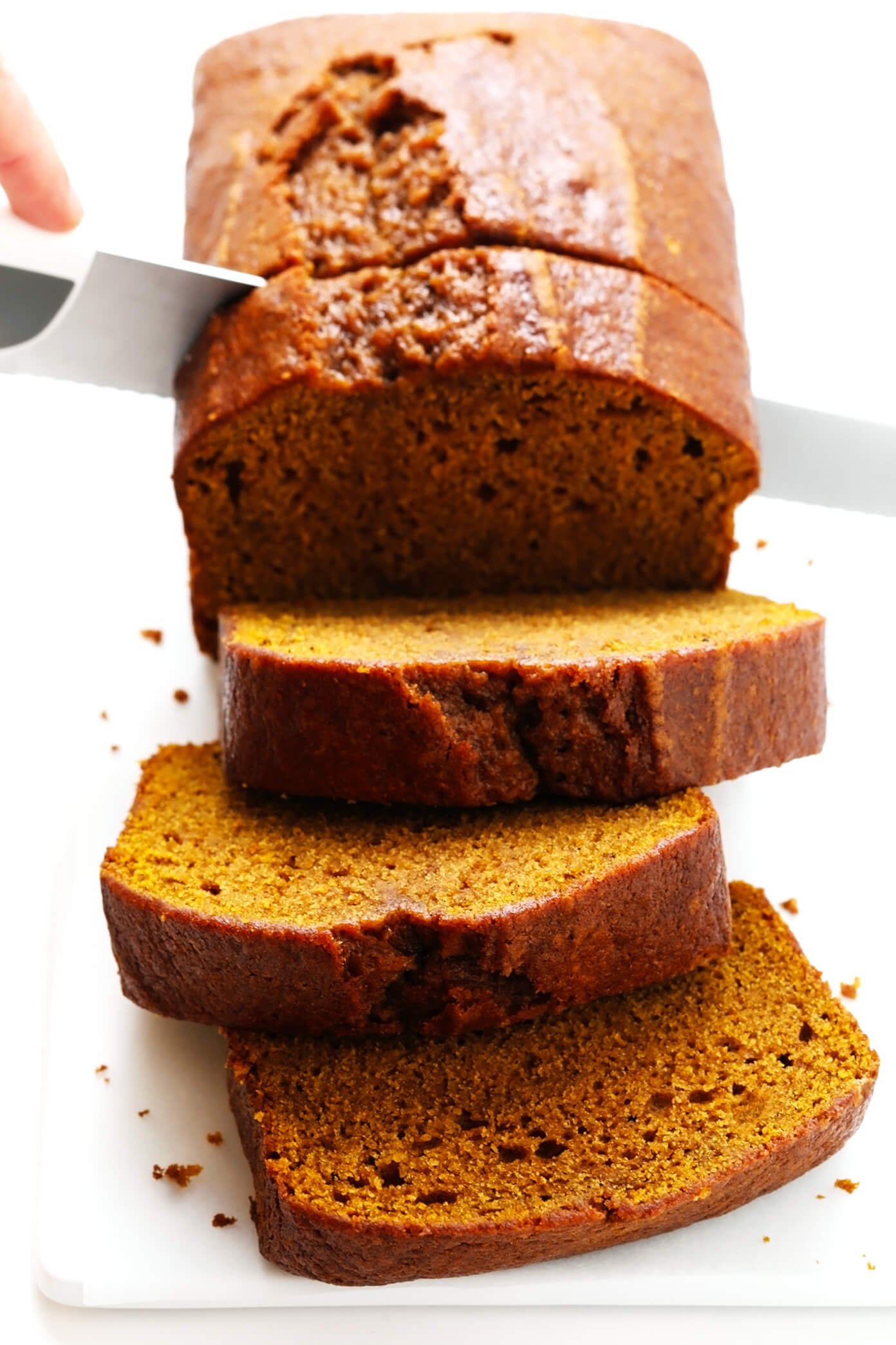 Moist Pumpkin Bread Slices