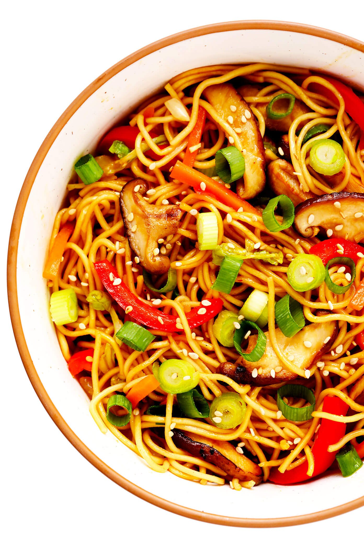 Vegetable Chow Mein in Bowl