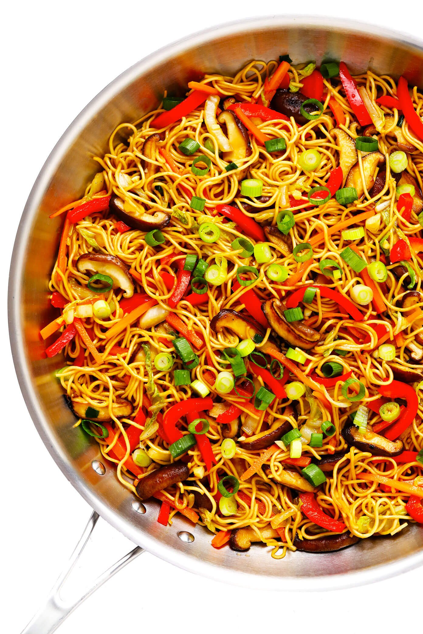 Chow Mein Noodles In Saute Pan