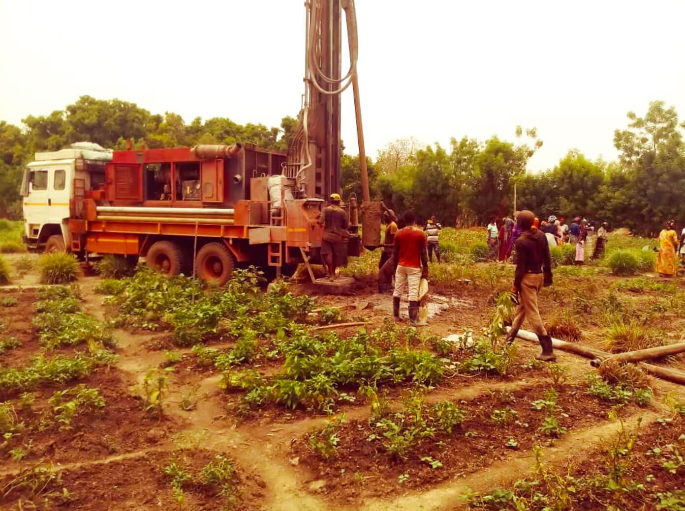 Drilling a new fresh water well in Mali