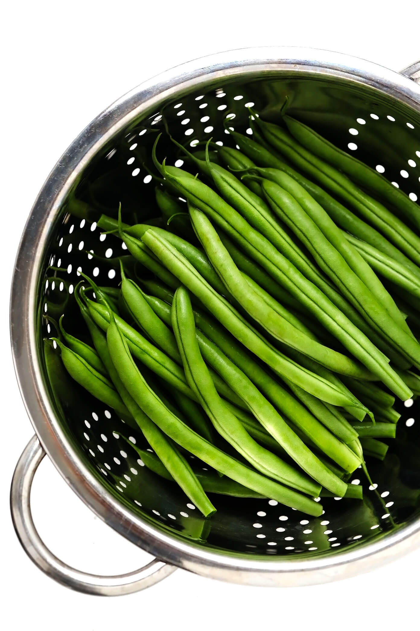Green Beans in Strainer