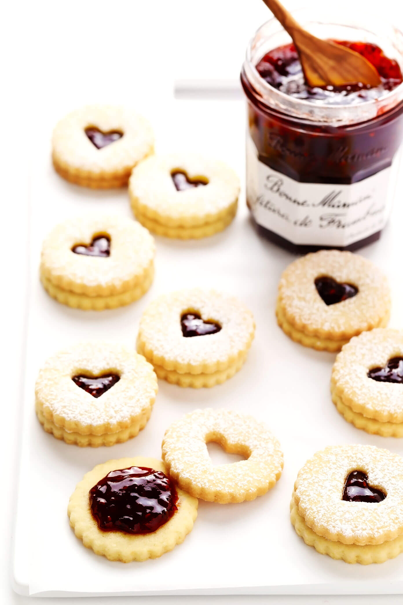Linzer Cookie Hearts with Raspberry Jam