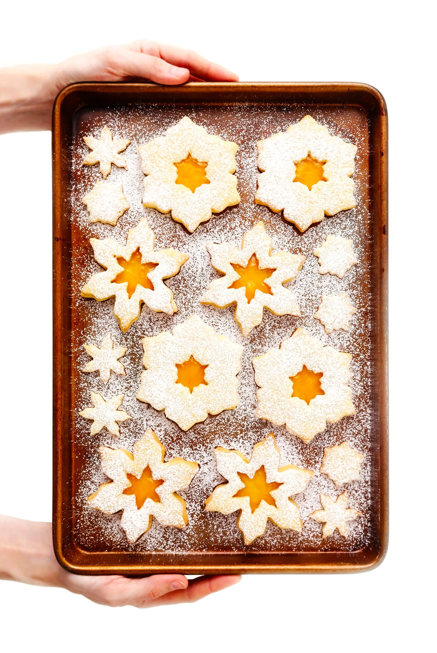 Snowflake Linzer Cookies