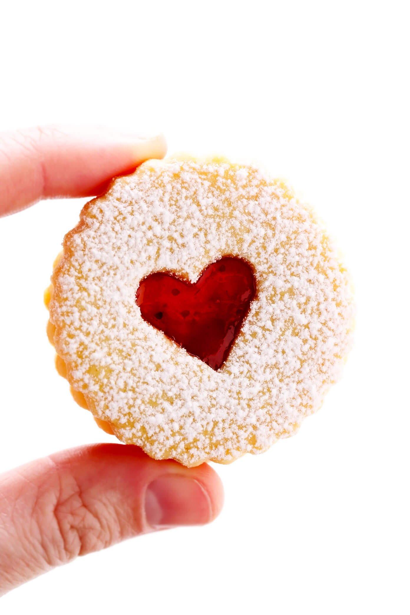 Linzer Cookie Heart Closeup