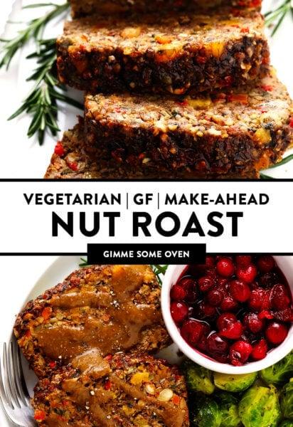 Vegetarian Gluten-Free Make-Ahead Nut Roast
