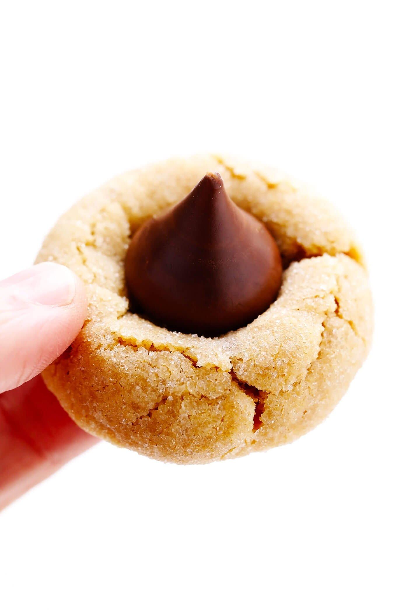 Close-up de biscoito de flor de manteiga de amendoim