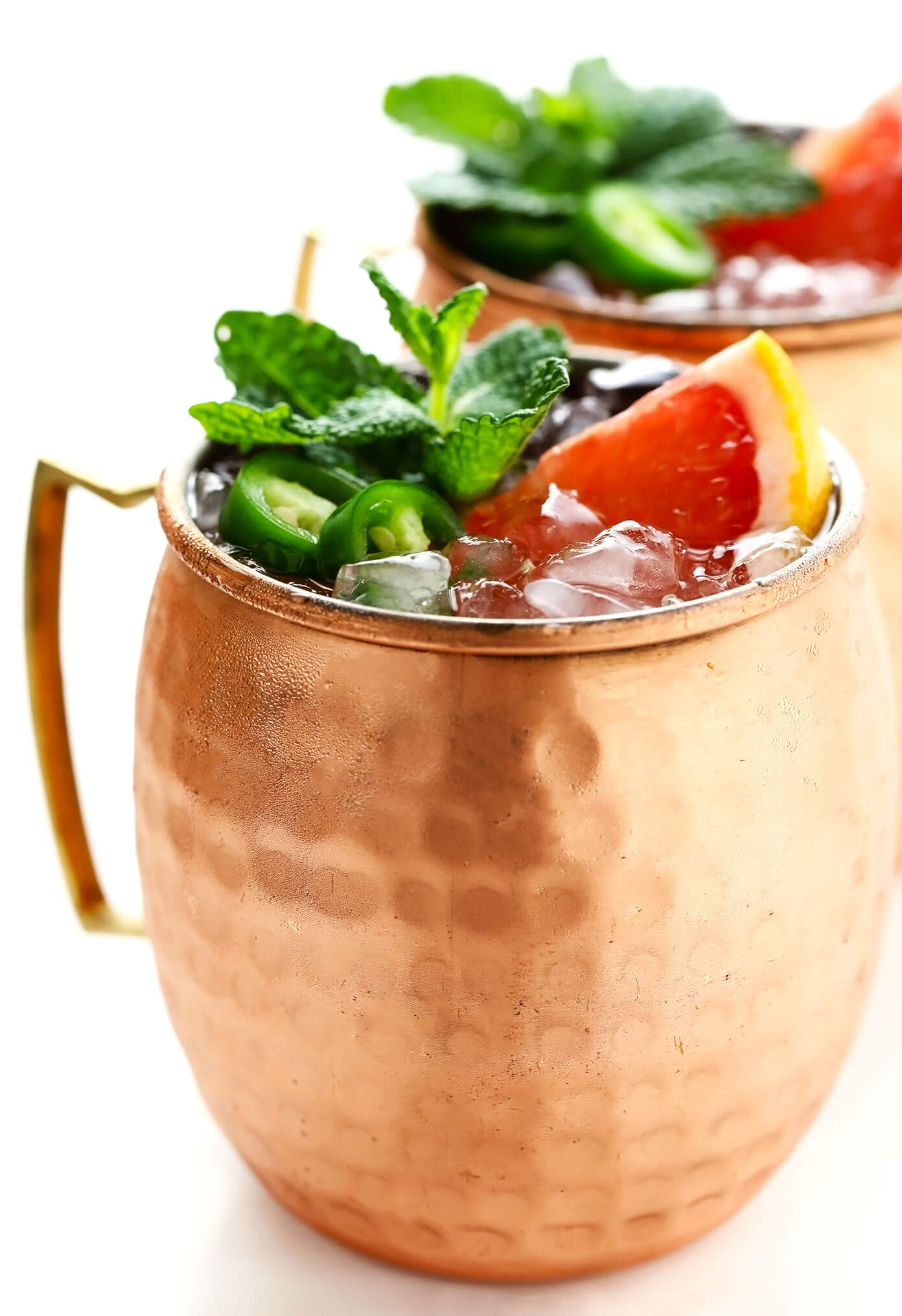 Toranja picante Ginger Fizz Mocktails lado a lado