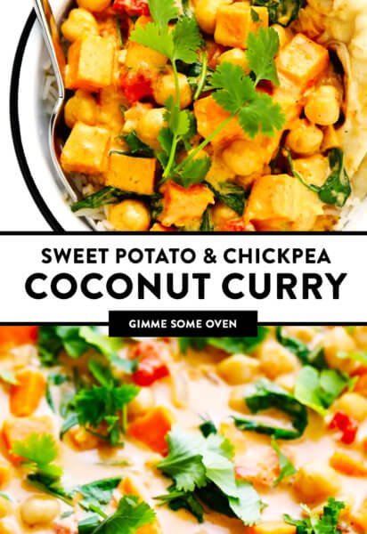 Sweet Potato Chickpea Coconut Curry