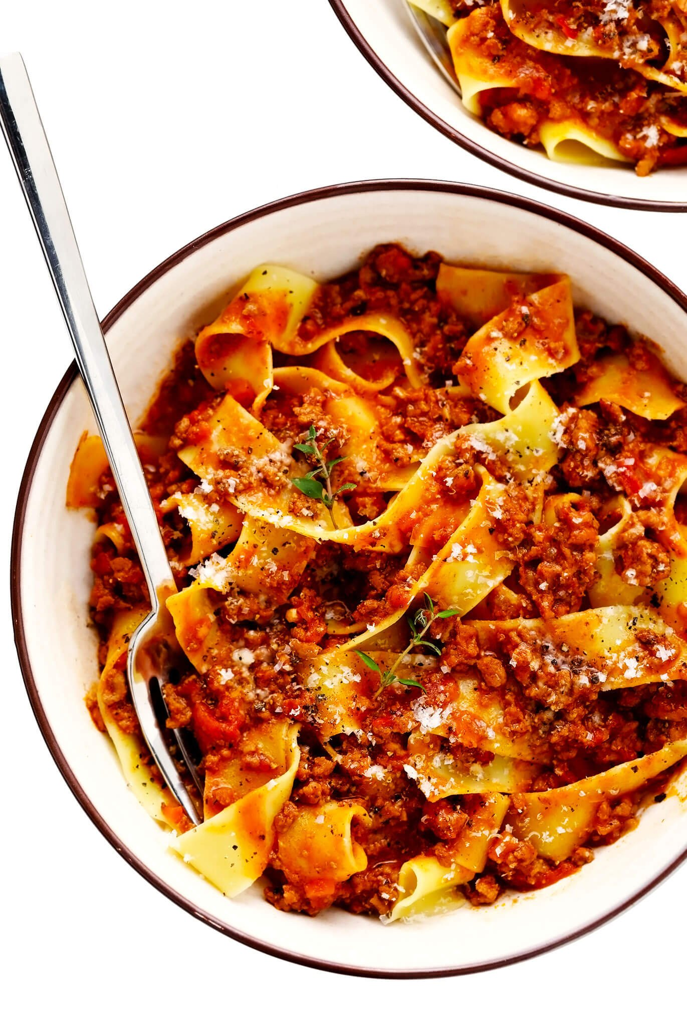 Pasta Bolognese with Pappardelle