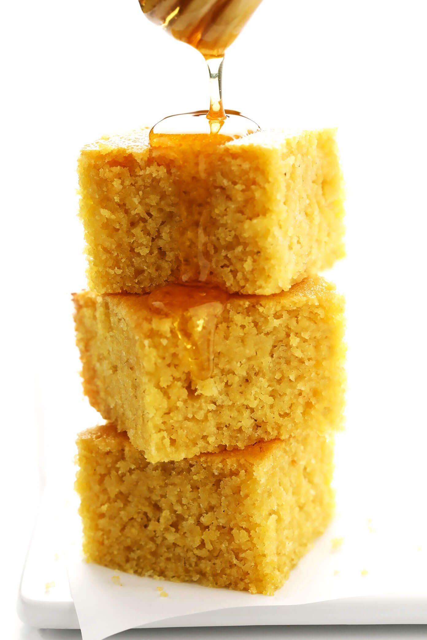 Homemade Cornbread with Honey