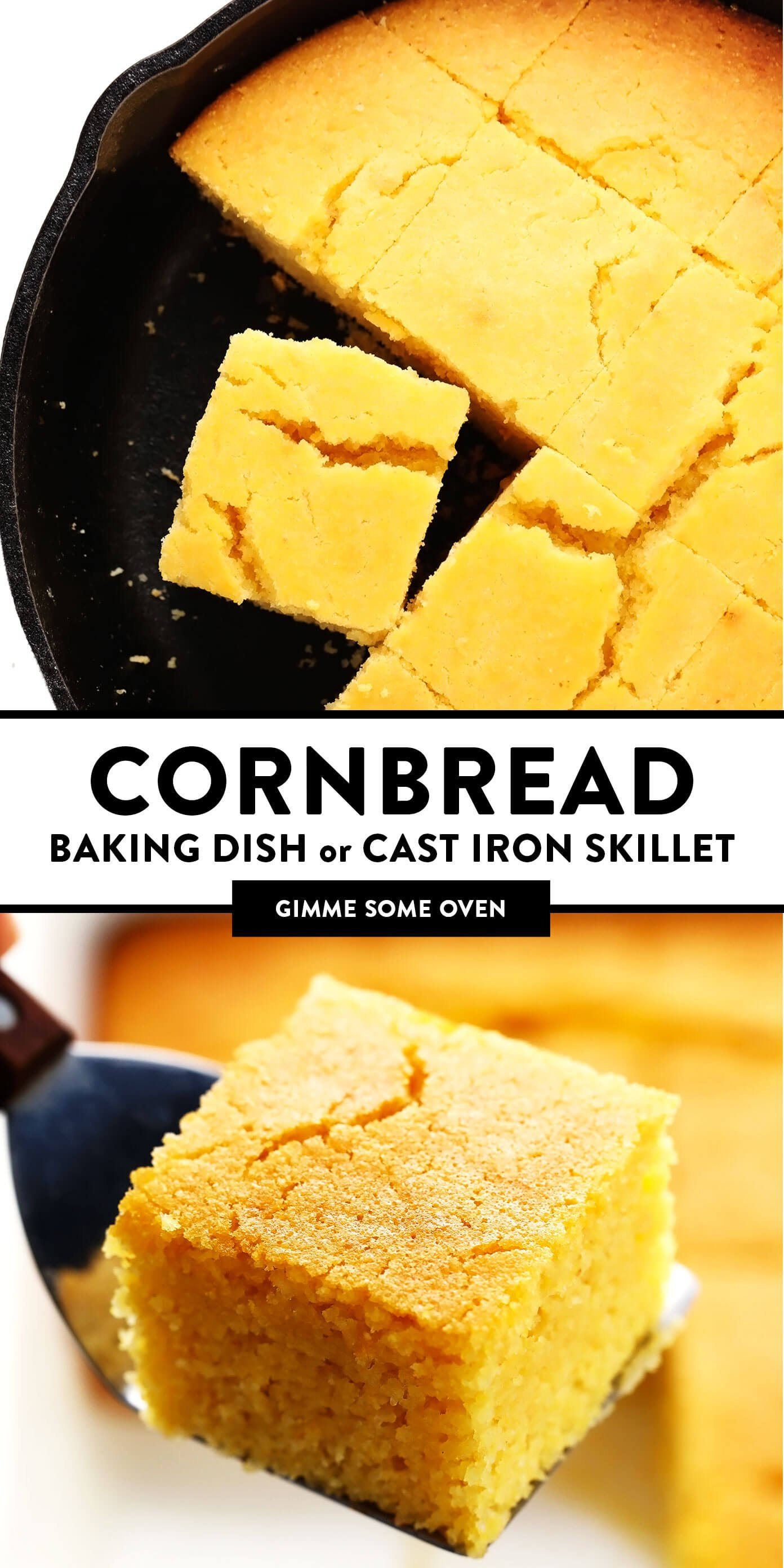 Cornbread | Baking Dish or Cast Iron Skillet