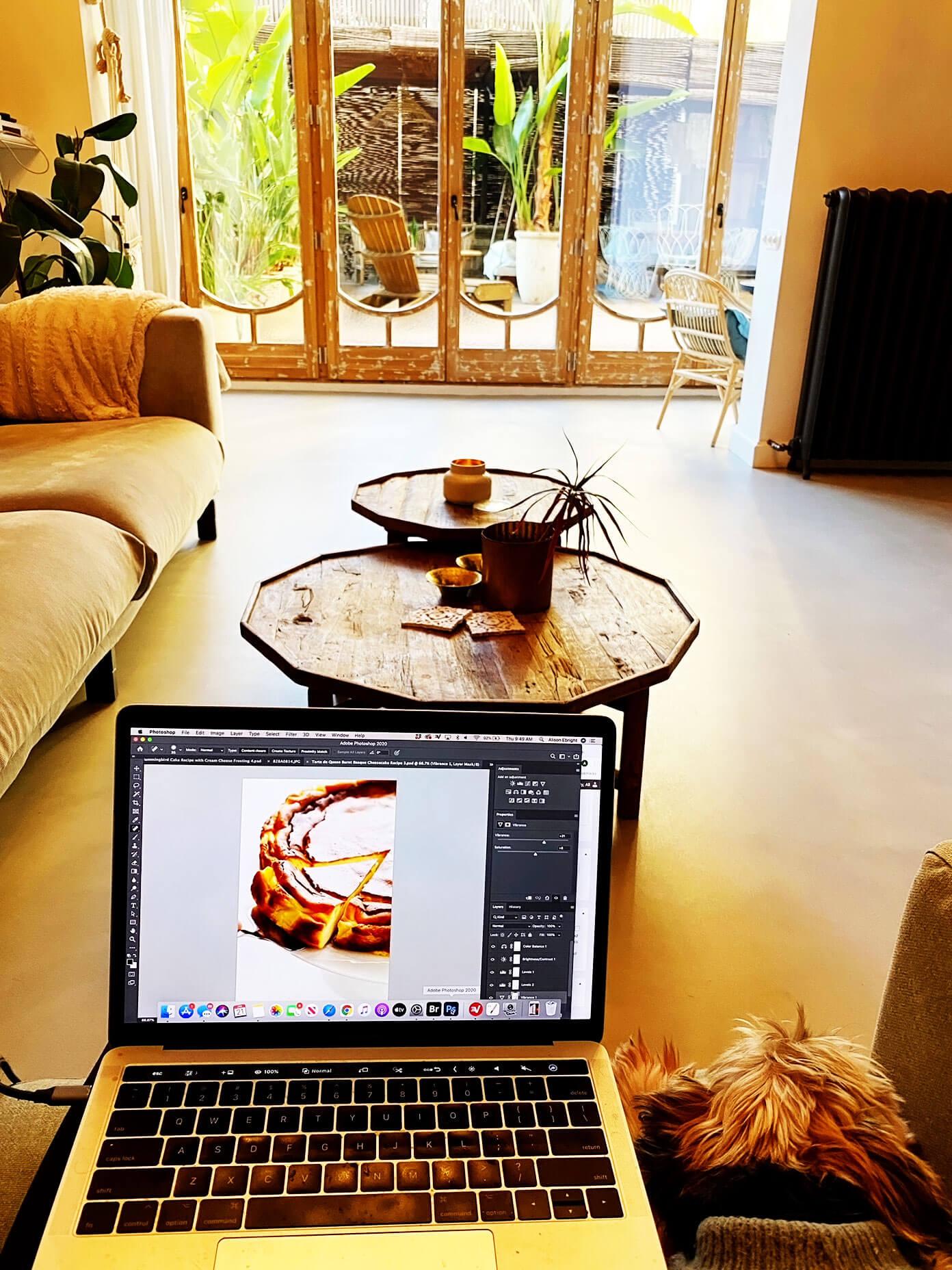 Editing food blog photos