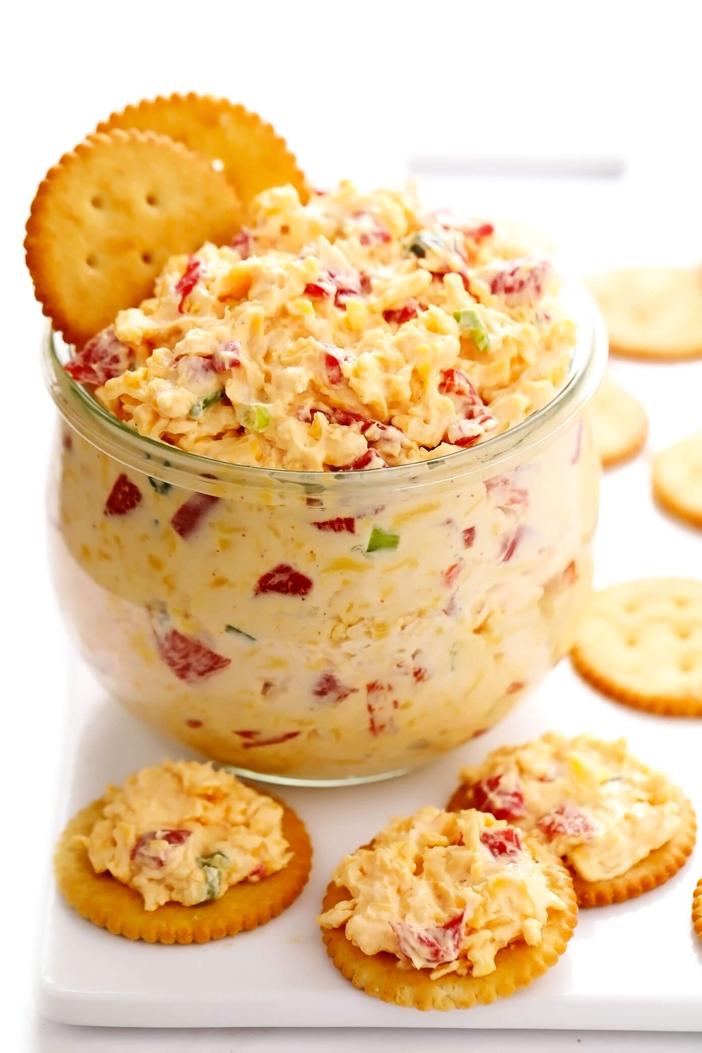 Homemade Pimento Cheese with Ritz Crackers