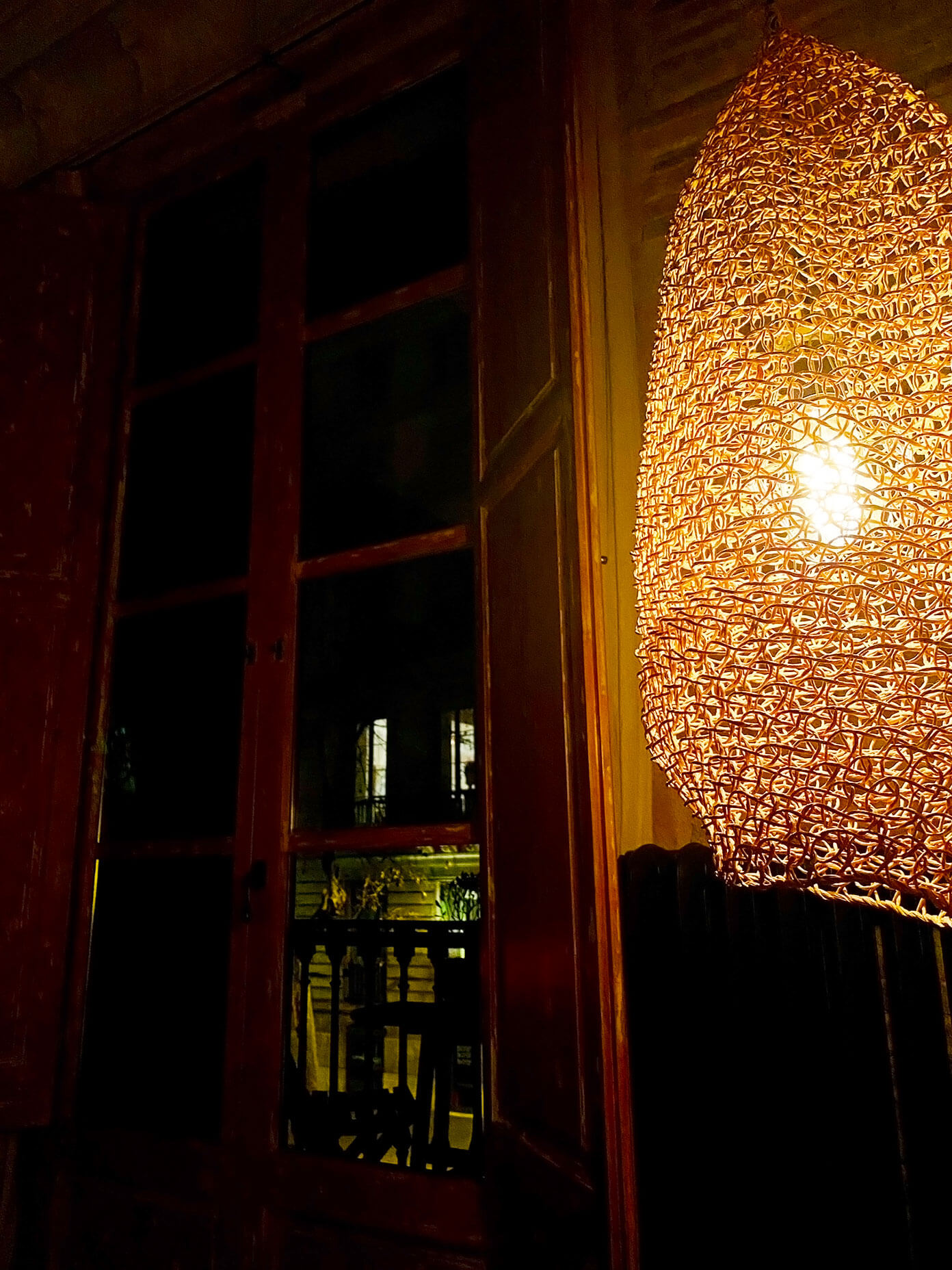 Eixample apartment at night