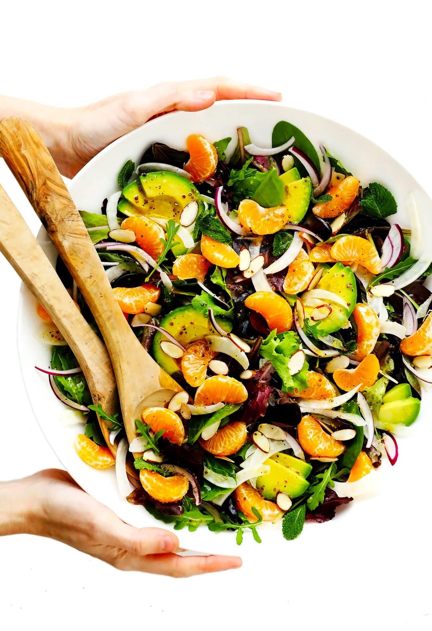 Salada de Laranja, Erva-doce e Abacate