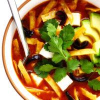 Sopa Azteca (Mexican Tortilla Soup)