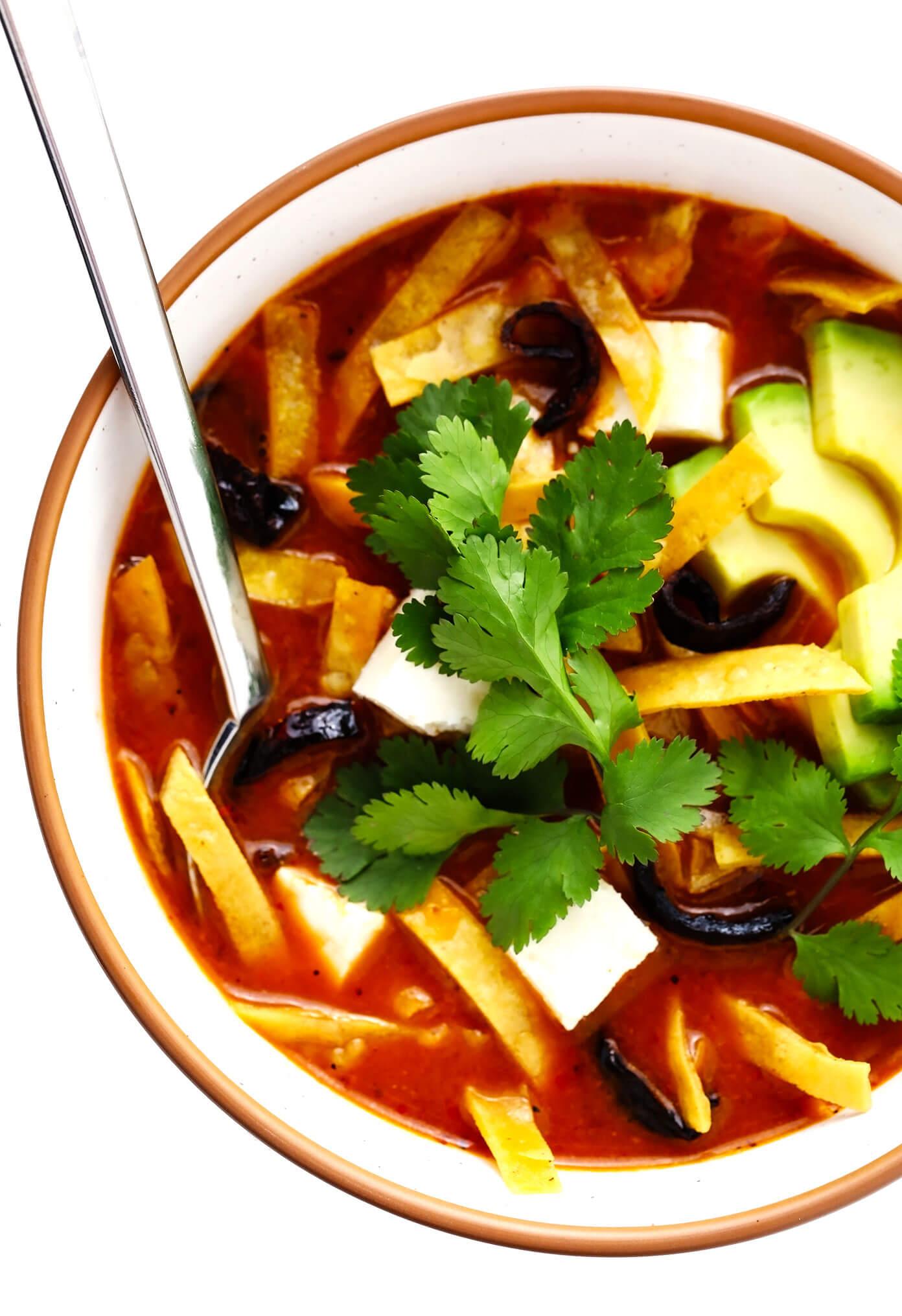 Sopa Azteca (Mexican Tortilla Soup) Recipe