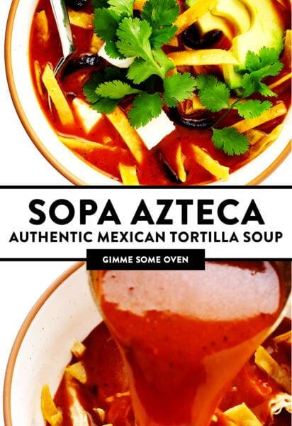 Sopa Azteca (Authentic Mexican Tortilla Soup)