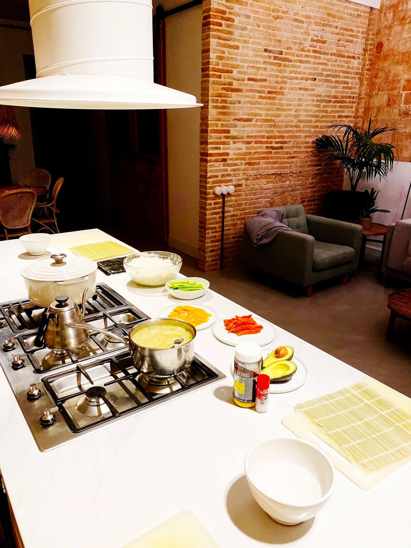 DIY Sushi Night Setup