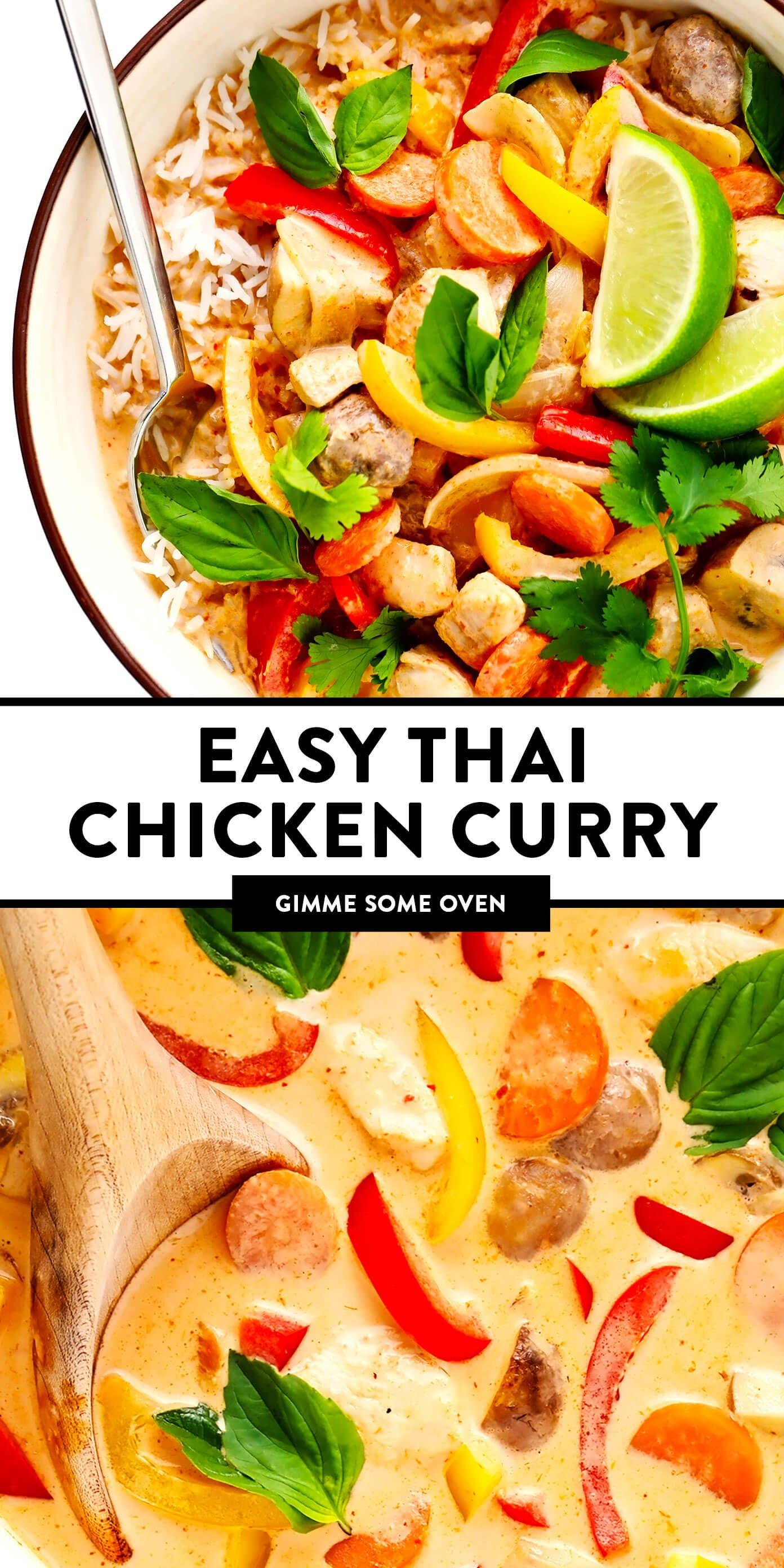 Curry de frango tailandês fácil