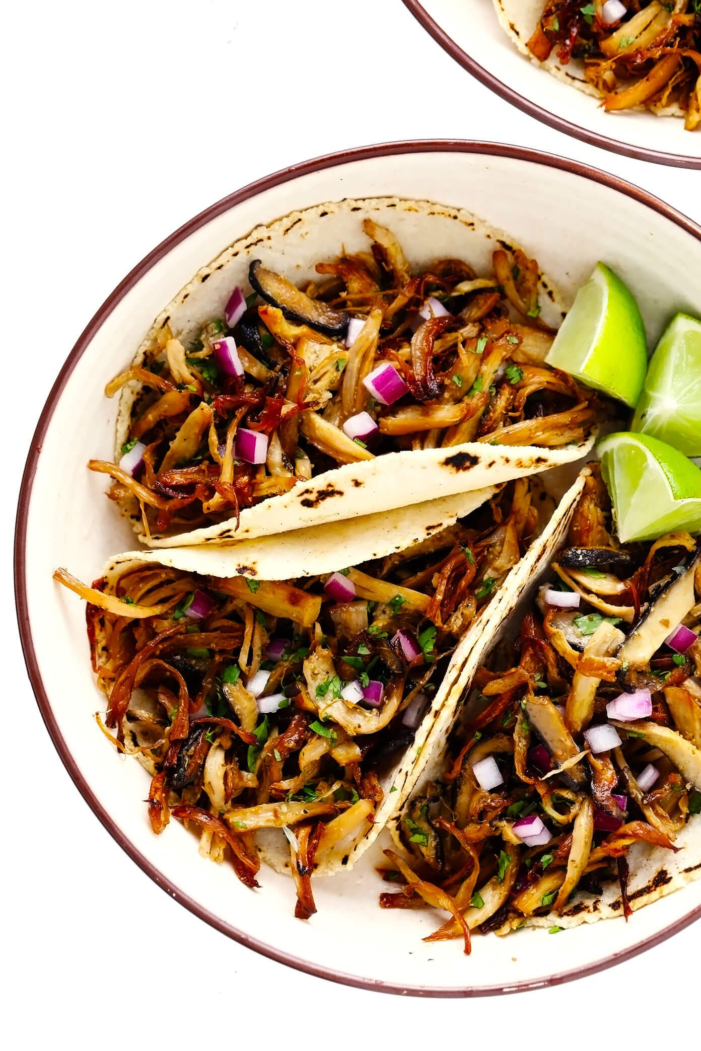 "Mushroom ""Carnitas"" Tacos (Vegetarian, Vegan, Gluten-Free)"