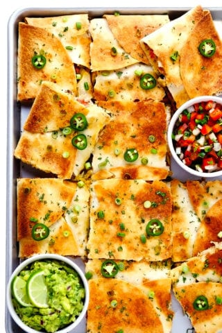 Chicken Sheet Pan Quesadilla