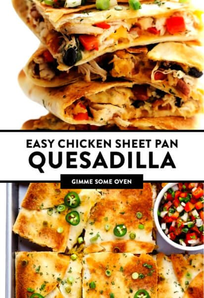 Easy Chicken Sheet Pan Quesadilla