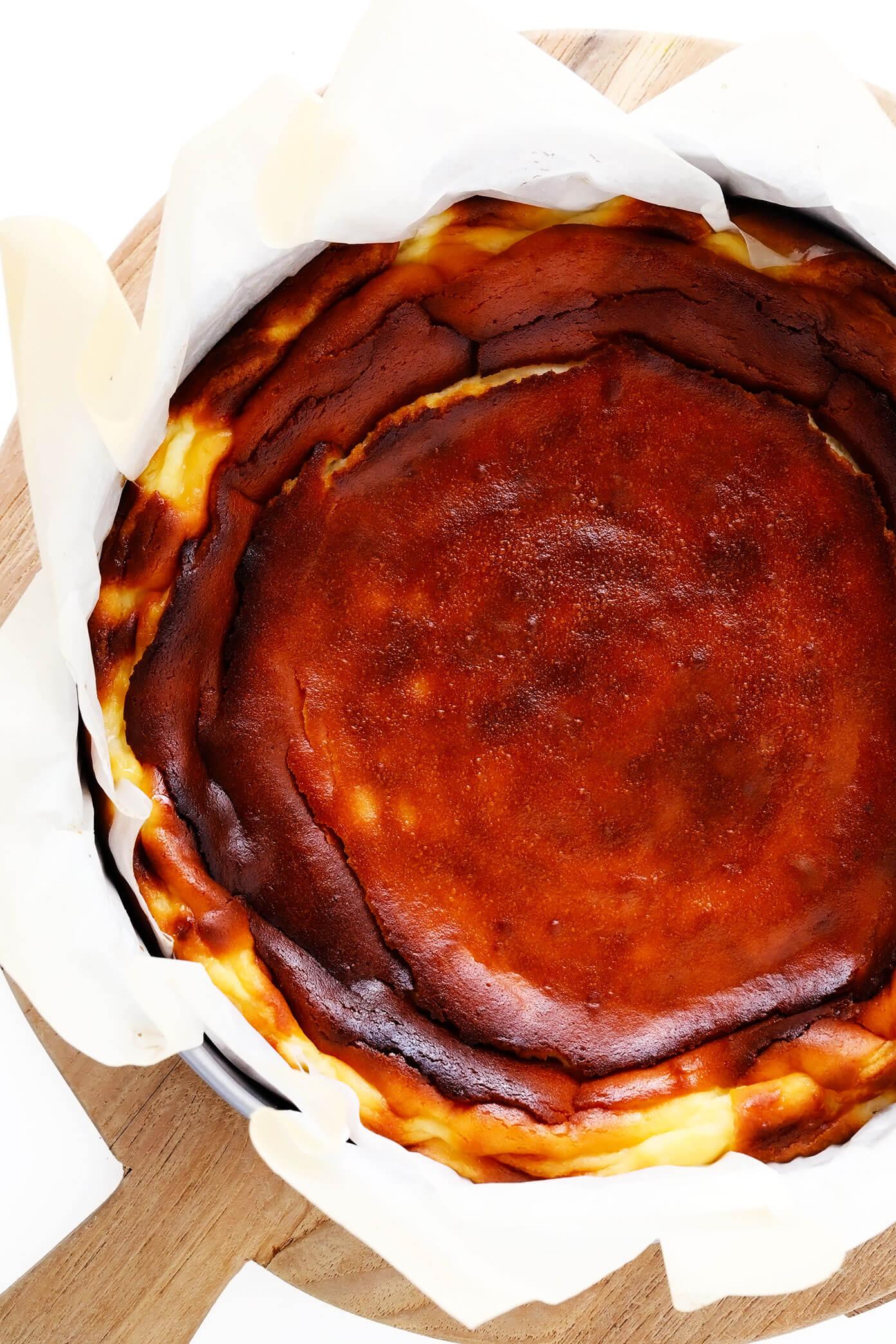 Basque Cheesecake Recipe in Springform Pan