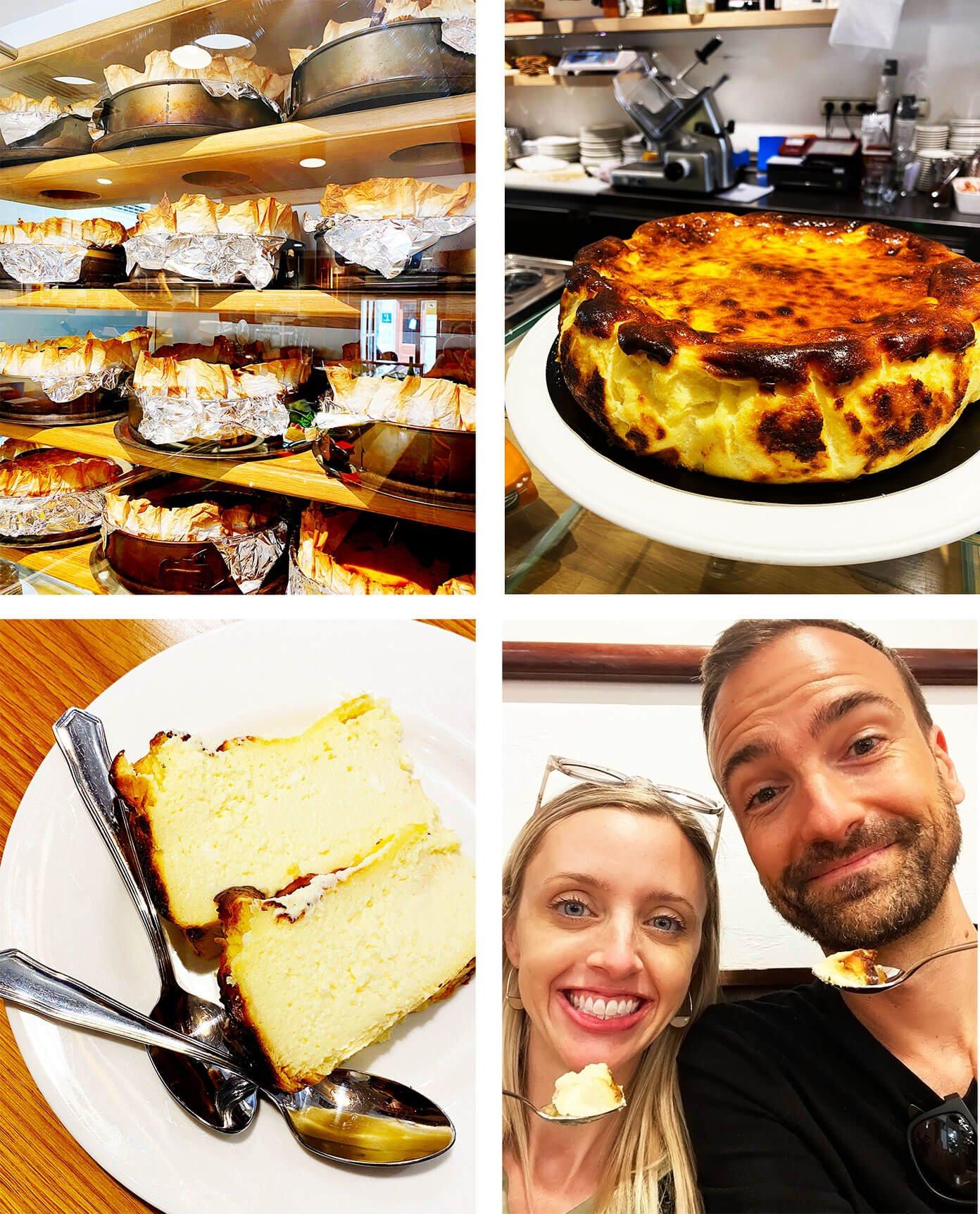 Burnt Basque Cheesecake (Tarta de Queso) La Viña in San Sebastian