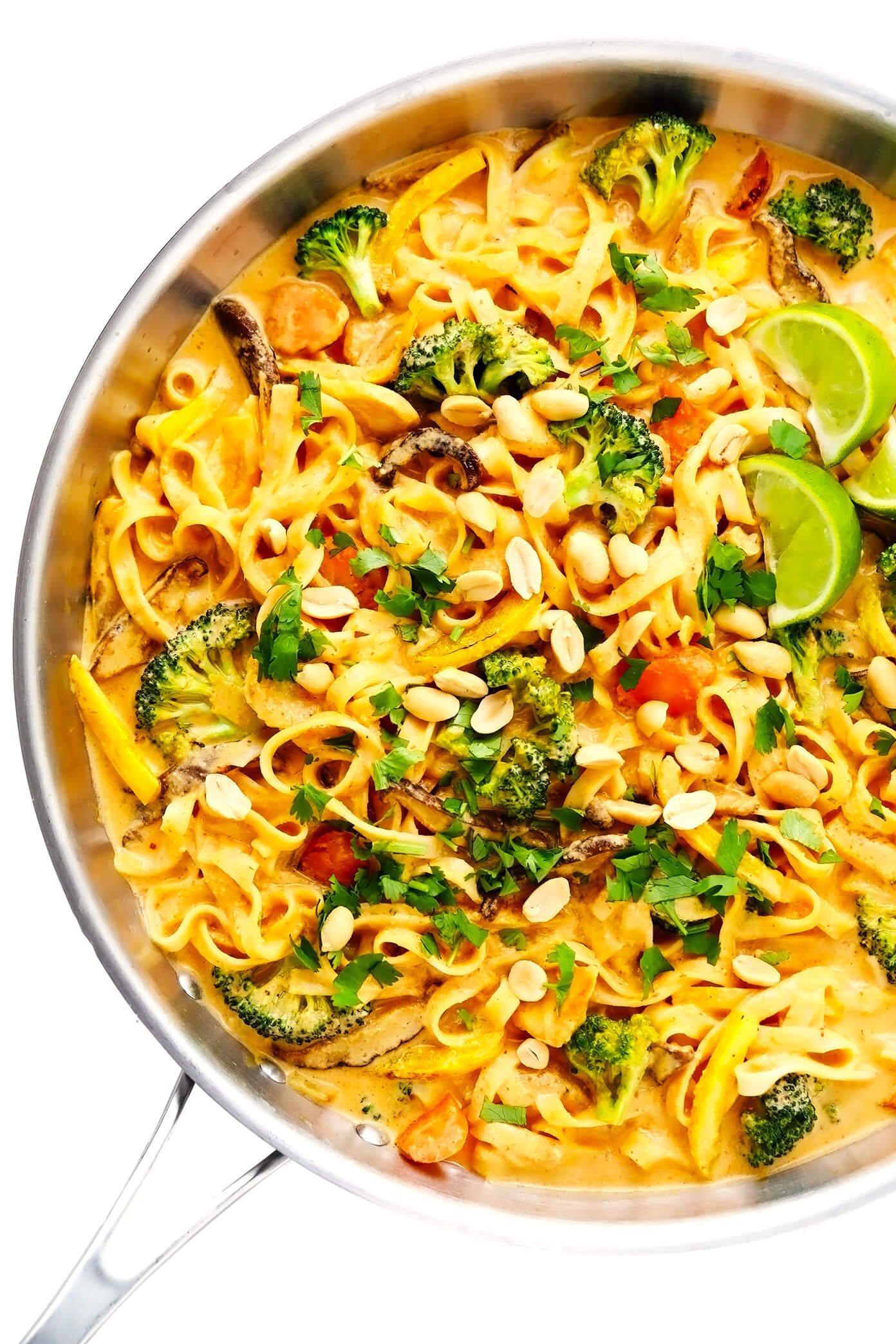 Thai Curry Peanut Noodles