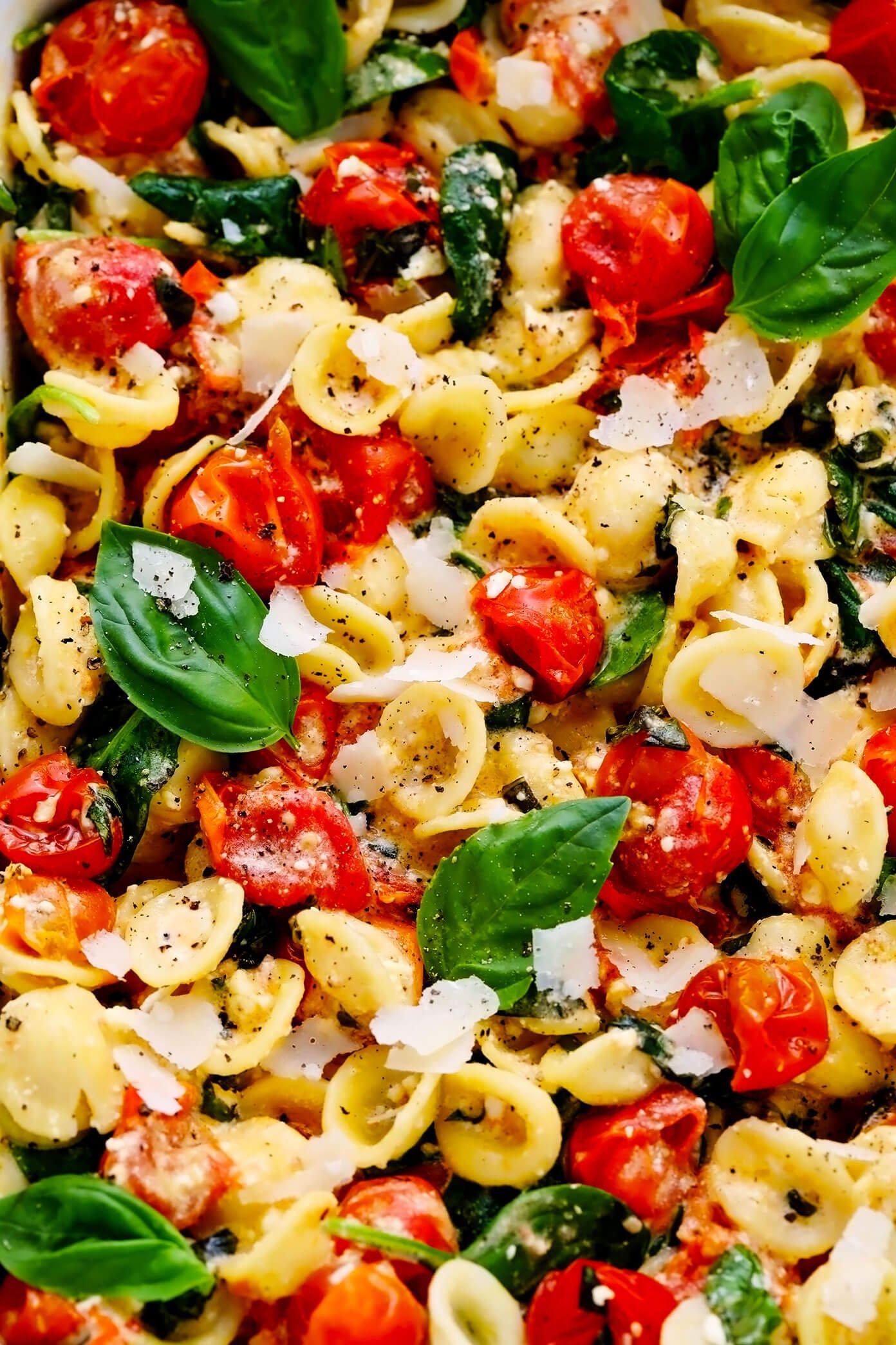 Baked Feta Pasta Recipe Closeup
